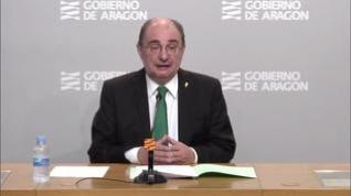 Lambán pide a la UE recursos y una rebaja del objetivo de déficit