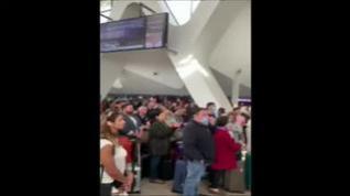 Caos en el aeropuerto de Marrakech tras la suspensión de vuelos a Europa