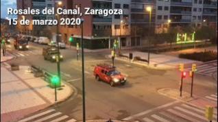La UME se despliega en Zaragoza