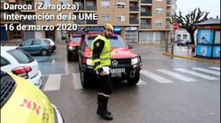 La UME despliega más de cien nuevos militares en localidades de todo Aragón