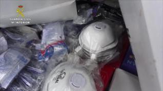 La Guardia Civil requisa cerca de 69.000 mascarillas y más de 5.000 gafas y guantes