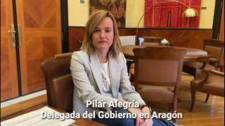 """Pilar Alegría:  """"Este fin de semana, también, 'Quédate en casa"""""""