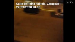 Aplausos, sirenas y 'Resistiré', por las calles de Zaragoza