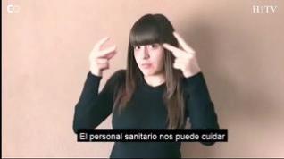 Alumnos del IES Santa Emerenciana de Teruel piden a la gente que se queden en casa con lengua de signos