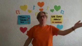 Las educadoras de la Escuela Infantil de Monegros animan a los más pequeños con un vídeo