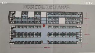 A partir del lunes podrán estar disponibles 105 camas en el hospital de campaña del Auditorio