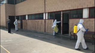 La UME desinfecta la prisión de Zuera y los CIS de Huesca y Zaragoza