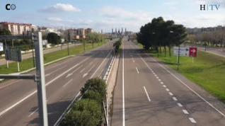 La Zaragoza vacía del coronavirus