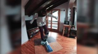 Núria Castán comparte en sus Redes Sociales sobre cómo sigue entrenando su técnica de snowboard