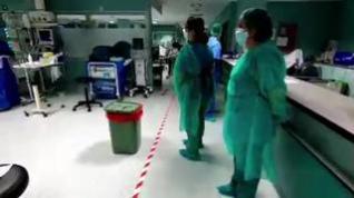 Así se trabaja en la UCI del Hospital Miguel Servet de Zaragoza con el coronavirus