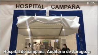 Así es el hospital de campaña del Auditorio de Zaragoza