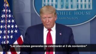 Trump confirma que la crisis del coronavirus no alterará el calendario electoral