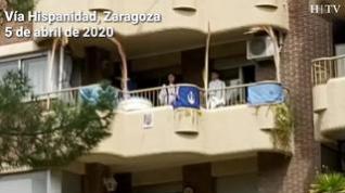 La Semana Santa ya suena en Zaragoza... desde los balcones