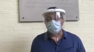 Cadis Huesca agradece a Julio Luzán las máscaras de protección donadas