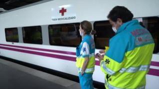 Renfe ya tiene listos tres trenes medicalizados para trasladar a pacientes