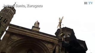 Así fueron las procesiones del Jueves Santo en Zaragoza en 2019