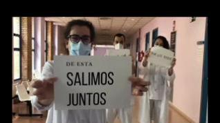 """""""De ésta, saldremos juntos"""", el vídeo del Centro de Salud La Jota de Zaragoza"""