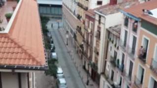 Procesión de balcón a balcón en la calle San Blas de Zaragoza