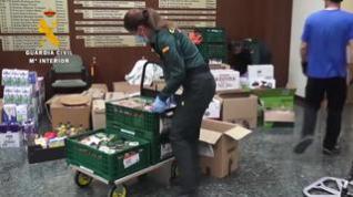 La Guardia Civil de Aragón dona do toneladas de comida al Banco de Alimentos