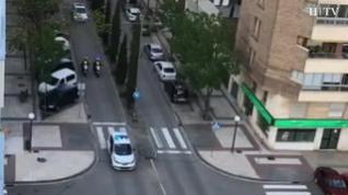Los coches de Policía en Huesca ya no activarán sus sirenas a la hora de los aplausos