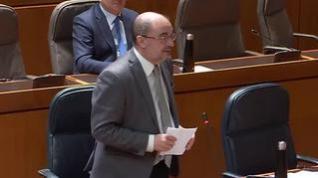 """Lambán: """"Salvar vidas de aragoneses está muy por delante de salvar políticamente a Pedro Sánchez"""""""
