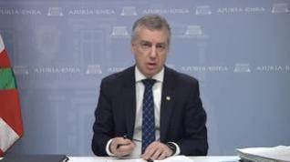 Urkullu pide a Sánchez el fin de la legislación de excepcionalidad