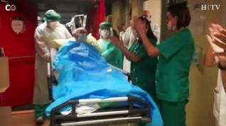 Tras pasar a planta el último enfermo, la uci del hospital Clínico, libre de pacientes covid.