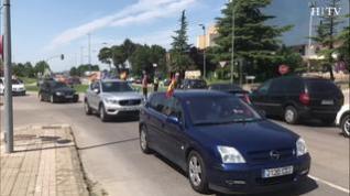 La caravana de Vox moviliza en Huesca a 130 coches y motos de toda la provincia