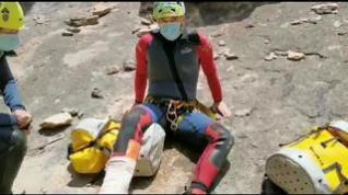 Primer rescate de la temporada en los barrancos de Guara
