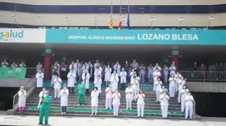 Desde el Hospital Clínico se suman al minuto de silencio por los fallecidos