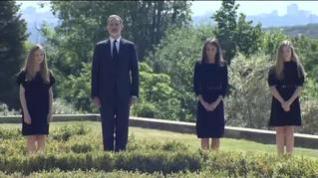 Minuto de silencio de la familia real por las víctimas de la covid-19