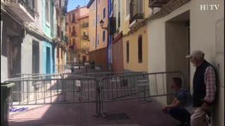 Doce personas desalojadas al hundirse el suelo de un edificio junto a Conde de Aranda