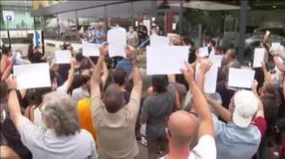 Los trabajadores de Nissan protestan contra el cierre de las plantas de Barcelona