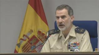 """El rey asegura que """"aún quedan tiempos difíciles"""" pero que España """"es un gran país"""" que sabe vencer las dificultades"""