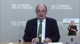 """Lambán: """"Si Aragón entra en la fase 3 el 8 de junio, la movilidad será total en las tres provincias"""""""