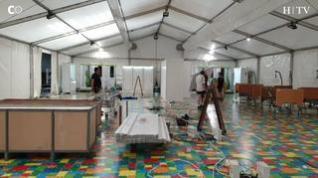 Comienza el desmontaje del hospital de campaña de la Sala Multiusos de Zaragoza