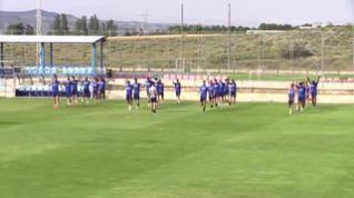Nuevo entrenamiento en grupo del Real Zaragoza