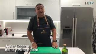 Cocina con Segarra: Carpaccio de tomate con langostinos y pipas