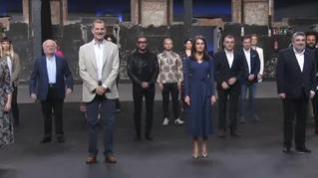 Los reyes rinden homenaje a Pau Donés y Rosa María Sardá durante su visita a Matadero