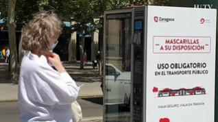 Mascarillas al instante y por 0,70 € en la línea del tranvía