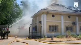 Los bomberos sofocan un incendio declarado en un archivo de Patrimonio Nacional en El Pardo