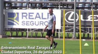El Real Zaragoza continúa preparando el derbi aragonés