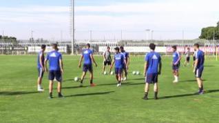 El Real Zaragoza continúa su preparación para el partido que le enfrentará a la SD Huesca