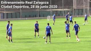Nueva sesión de entrenamiento del Real Zaragoza en la Ciudad Deportiva