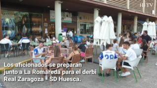 Los bares cercanos a  La Romareda viven el derbi Zaragoza - Huesca