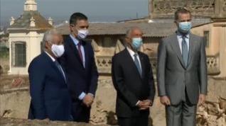 Felipe VI preside en Badajoz la simbólica reapertura de la frontera con Portugal
