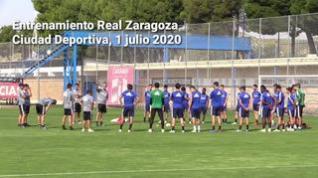 El Real Zaragoza se entrena de nuevo en la Ciudad Deportiva