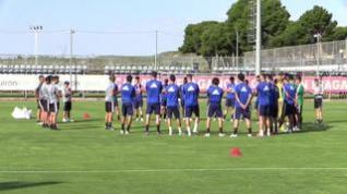 Nuevo entrenamiento del Real Zaragoza en la Ciudad Deportiva
