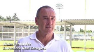 El entrenador del Real Zaragoza, Víctor Fernández, analiza los últimos partidos del equipo y habla del próximo encuentro contra el Gerona.