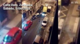 Reyerta en la calle Dato de Zaragoza